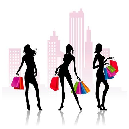 go shopping: Ladies go shopping