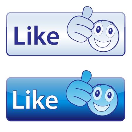 clic: I like  button