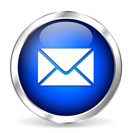 clic: Blue mail icon Illustration
