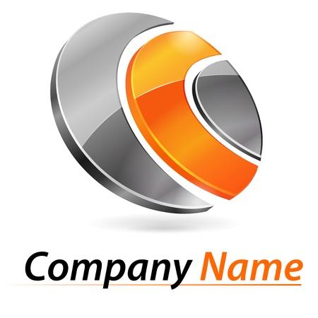 Logo 3d di branding Archivio Fotografico - 21322382