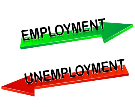 unemployment, employment Vector