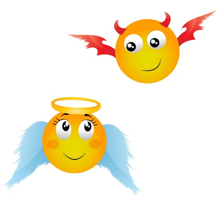 heaven and hell: angel, demon