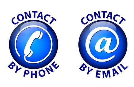 contact icon: Contact pictogram Stock Illustratie