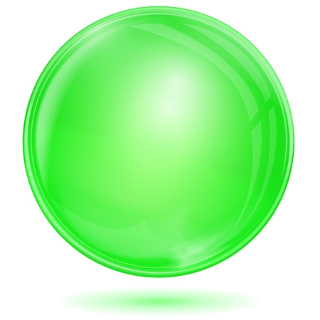 Green bubble on white background Vector