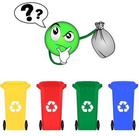 waste disposal: Selective sorting Illustration