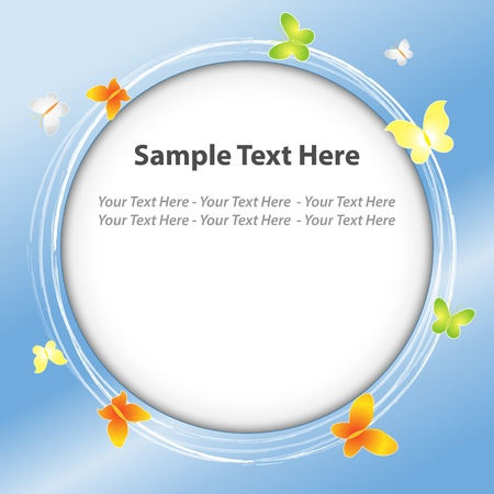 Butterfly blue background Stock Vector - 21423666