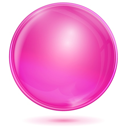 Pink bubble Stock Vector - 21423655