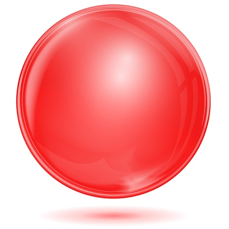 Red bubble Vector