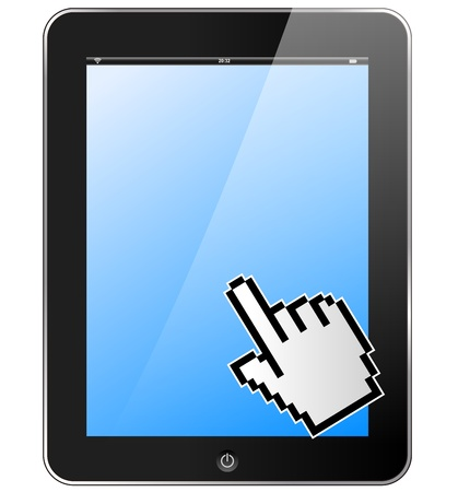 Tablet with hand Stock Vector - 21423737