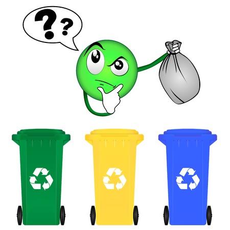 Mülltrennung Standard-Bild - 21423759