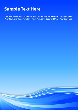 a5: Blue background Illustration