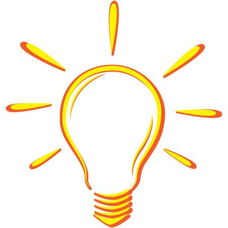 Orange bulb 向量圖像