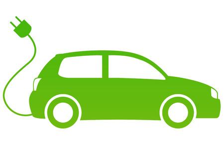 prise de courant: voiture ?lectrique Illustration