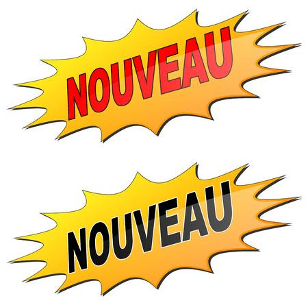 french label: Nueva etiqueta franc�s