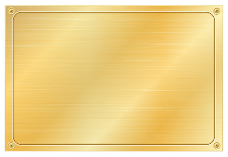 Gold plate Stock Vector - 22325190