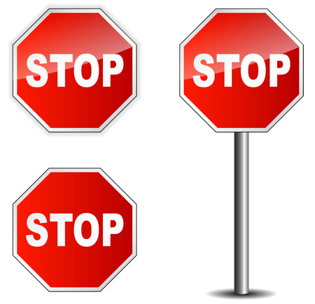 signal stop: Traffic sign stop