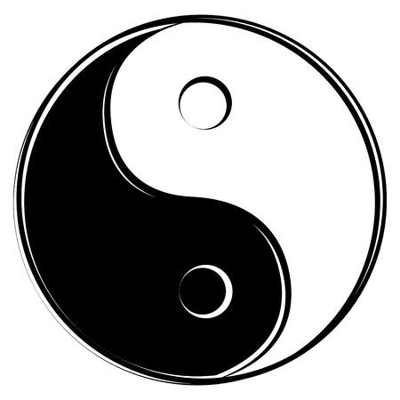 simbolo de paz: Yin Yang signo Vectores