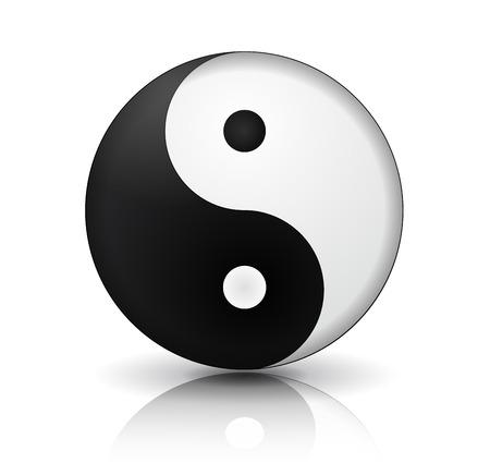 contradiction: Yin Yang icon Illustration