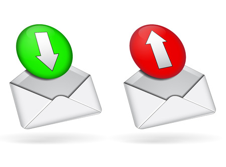 Two web mail icons on white background
