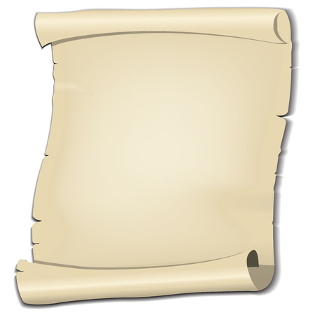 Vector parchment on white background photo
