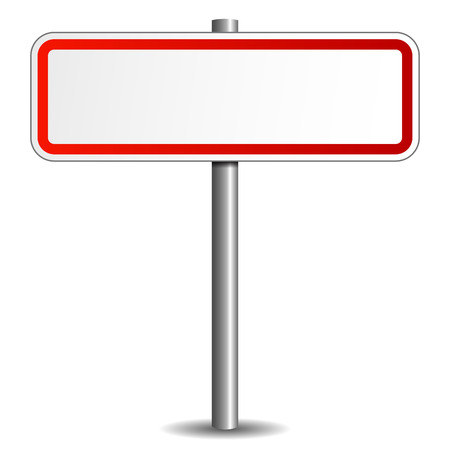 Illustration of oad sign on white background illustration