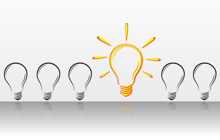illuminated: Illuminated bulb Illustration