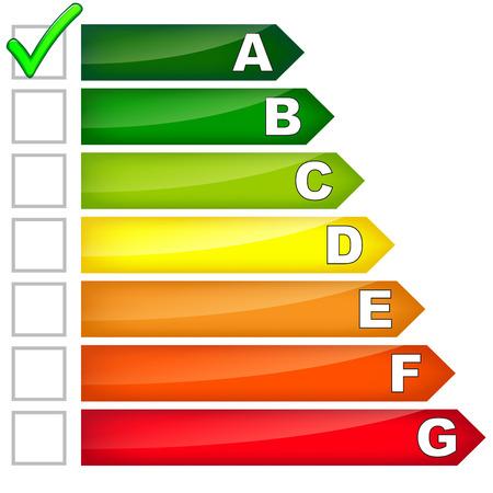 consumo energia: consumo di energia segno su sfondo bianco Vettoriali