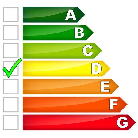 消費: エネルギー消費量は、白い背景の上署名します。  イラスト・ベクター素材