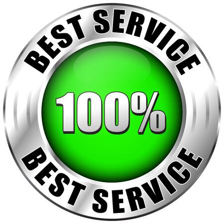top rated: Illustration of best service label on white background Illustration