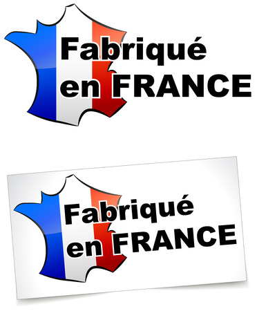 Made in france label on white background Vector