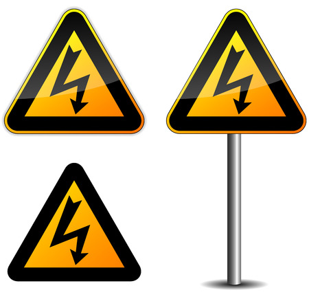 Warning electric sign Vector