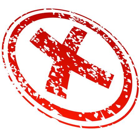 refused: negado sello rojo