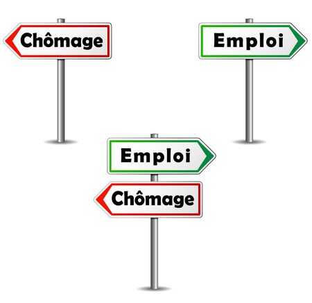 Paneles franceses empleo y desempleo