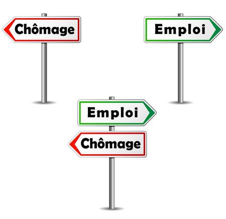 unemployment: Paneles franceses empleo y desempleo