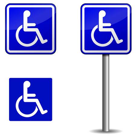 handicap sign: Vector de handicap signo en fondo blanco