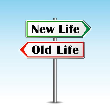 Abstrakte Darstellung der neuen Lebenskonzept