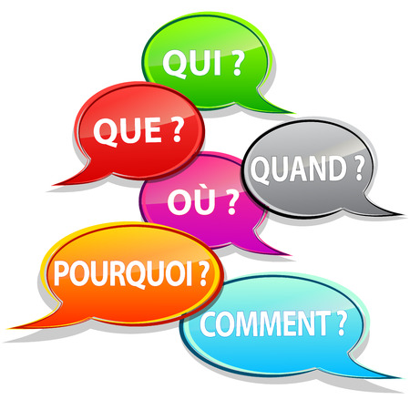 Questions bubbles french Vector