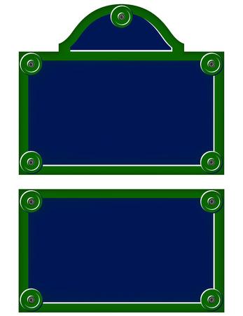 name plates: Parisian avenue plates