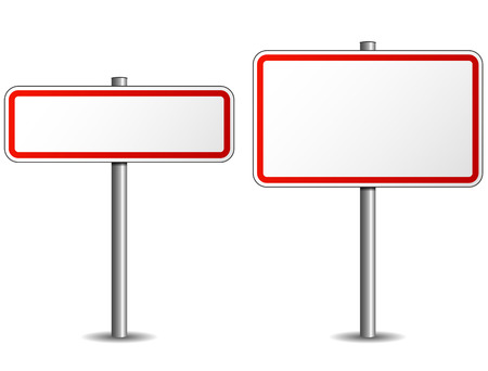 Illustration of two road sign on white background Vector