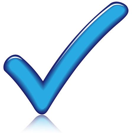 Vector illustratie van blauw geruit pictogram op witte achtergrond