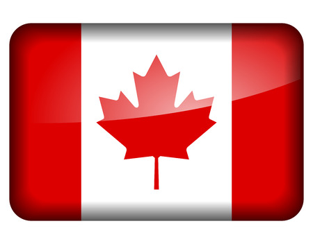 canadian flag: Vector illustration of canadian flag icon on white background  Illustration