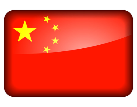 Vector illustration of china flag icon on white background