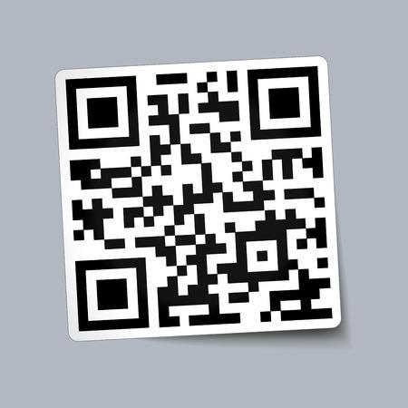 correttore: illustrazione vettoriale di carta con il codice qr