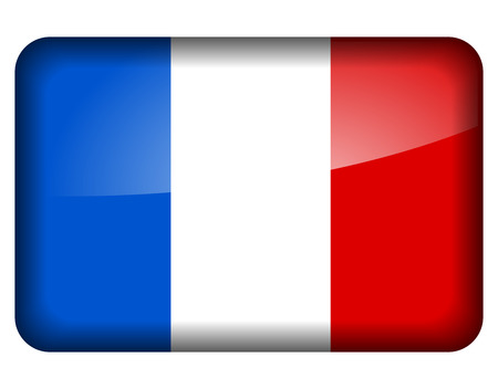 Vector illustration of french flag icon on white background  Vector