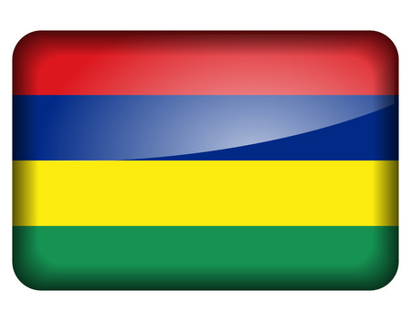 mauritius: Vector illustration of mauritius flag icon on white background