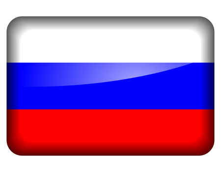 russian flag: Vector illustration of russian flag icon on white background