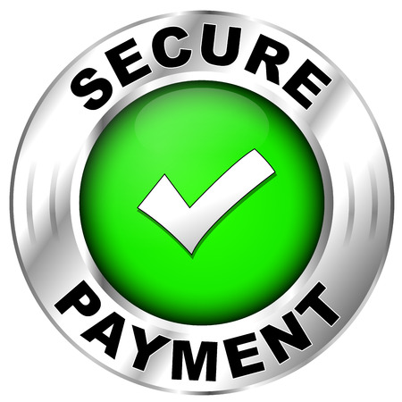 secure payment: Vector illustration of label for secure payment Illustration