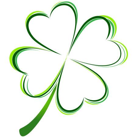 four leaf: ilustraci�n vectorial de la foto del tr�bol verde Vectores