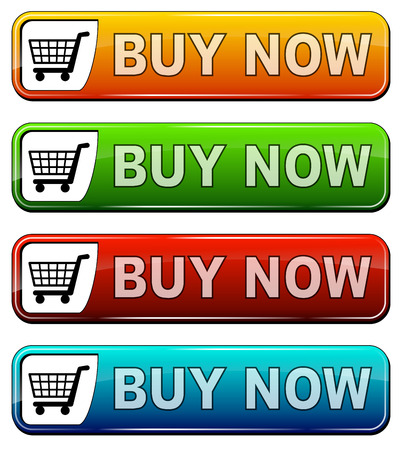 buy now: illustration of icon for online shopping
