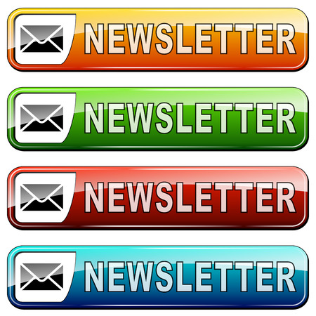 illustration of newsletter buttons  Vector